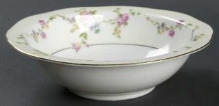 Baronet Juliet Rim Cereal Bowl, Fine China Dinnerware   Multicolor Flowers & Swa
