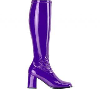 Womens Funtasma Gogo 300   Purple Stretch Patent Boots