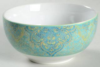 222 Fifth (PTS) Eva Opulent Teal Soup/Cereal Bowl, Fine China Dinnerware   Teal,