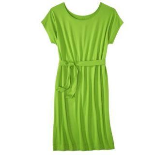 Merona Womens Knit Belted Dress   Zuna Green   S