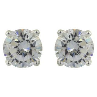 Sterling Silver Round Button Stud Earring   Silver