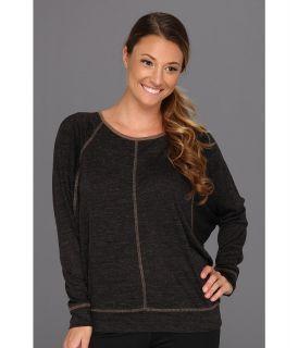 Prana Amanda L/S Top Womens Long Sleeve Pullover (Black)