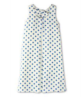Us Angels Printed Aline Dress With Tie Back Girls Dress (Blue)