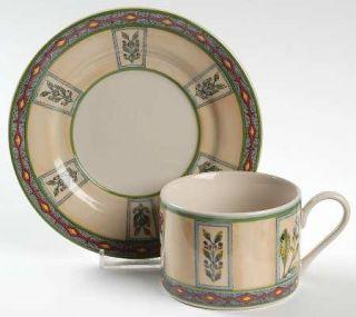 Interiors (PTS) Winslow Manor Flat Cup & Saucer Set, Fine China Dinnerware   Sto
