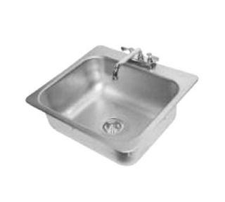 Advance Tabco Drop In Sink   (1) 20x16x8 Bowl, Deck Mount Swing Spout, 18 ga 304 Stainless