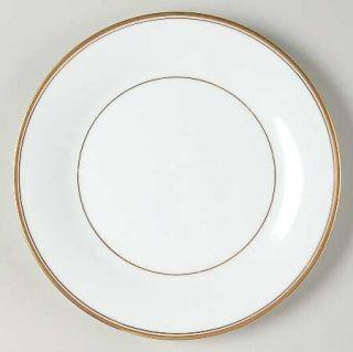 Noritake Allison Salad Plate, Fine China Dinnerware   White With Gold Band