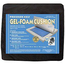Hudson Pressure Eez Gel foam 20x16 Nylon Wheelchair Seat Cushion