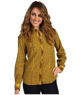 Ryan Michael LA Cowgirl Western Shirt Womens Long Sleeve Button Up (Brown)