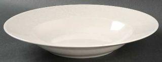 Kay Unger Paisley Shimmer Platinum Large Rim Soup Bowl, Fine China Dinnerware