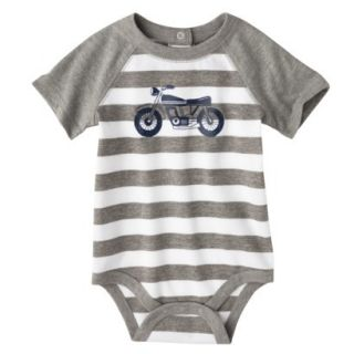 Circo Newborn Boys Motorcycle Bodysuit   Grey Stripe 0 3 M