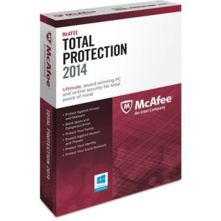 McAfee Total Protection 2014   One User (PC Software)