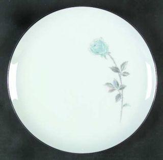 Hampton (Japan) Royal Rose Dinner Plate, Fine China Dinnerware   Blue Rose, Gray