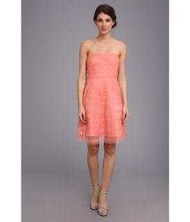 Donna Morgan Laser Cut Tulle Dress Womens Dress (Pink)