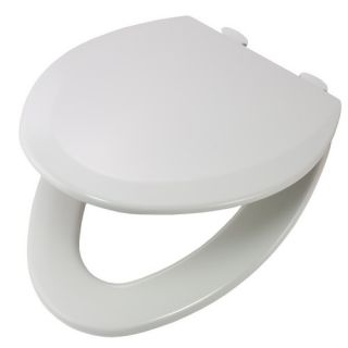 Bemis 1500EC062 Easy Clean amp; Change Elongated Closed Front Molded Wood Toilet Seat Ice Grey