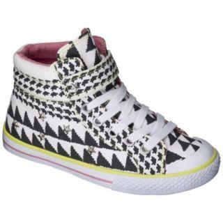 Girls Xhilaration Garalee High Top Sneakers   Black/White 2