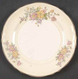 Edwin Knowles Bouquet Salad Plate, Fine China Dinnerware   Pink/Yellow Flowers O