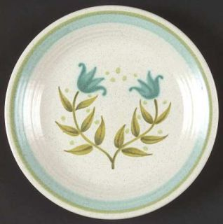 Franciscan Tulip Time Bread & Butter Plate, Fine China Dinnerware   Blue/Green T