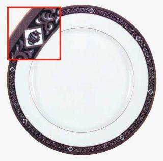 Christian Dior Nuit D Or Dinner Plate, Fine China Dinnerware   Black & Gold Des