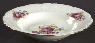 Vendome Porcelain Wanda (Scalloped, Embossed) Rim Soup Bowl, Fine China Dinnerwa