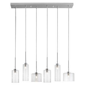Dainolite DAI IC 286P PC Industrial Chic 6 Light Horizontal Pendant