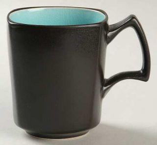 Ty Pennington Style Bali Hai Square Mug, Fine China Dinnerware   Blue Inside/Top