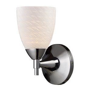 Elk Lighting ELK 10150 1PC WS CELINA CELINA 1 Light SCONCE WITH WHITE SWIRL GLAS