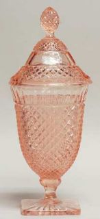 Anchor Hocking Miss America Pink Candy Dish with Lid   Pink, Depression Glass