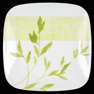 Corning Rivage Salad Plate, Fine China Dinnerware   Ultra,Green Leaf Branch&Wide