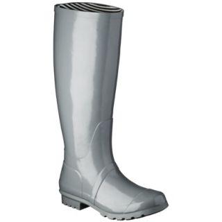 Womens Classic Knee High Rain Boot   Gray 10