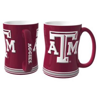 Boelter Brands NCAA 2 Pack Texas A & M Aggies Sculpted Relief Style Coffee Mug