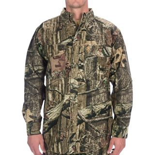 Browning Wasatch Camo Shirt   Cotton Chamois  Long Sleeve (For Big Men)   MOSSY OAK INFINITY (2XL )