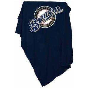 Milwaukee Brewers Logo Chair MLB Sweatshirt Blanket