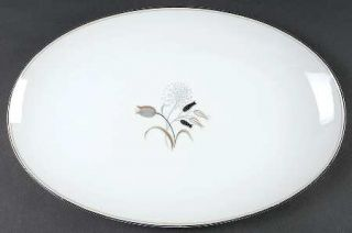 Noritake Jaris 16 Oval Serving Platter, Fine China Dinnerware   Gray/Taupe/Blac