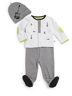 Infants 3 Piece Music Top, Pants & Hat Set