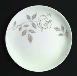 Royal Jackson Rose Fantasy Dinner Plate, Fine China Dinnerware   White/Gray Rose
