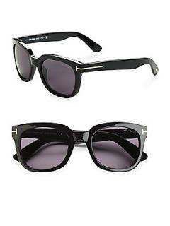 Tom Ford Eyewear Campbell Square Sunglasses   Black