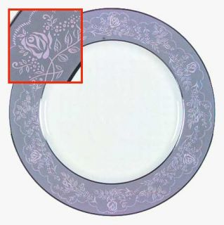 Royal Jackson Queens Lace Dinner Plate, Fine China Dinnerware   Pink Rose/Vine O