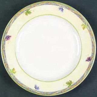 Interiors (PTS) Tuscan Country Salad Plate, Fine China Dinnerware   Grapes, Vine