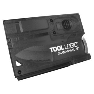 Tool Logic Survival Card with Fire Starter, Light and Knife