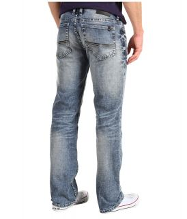 Buffalo David Bitton Driven X Basic Straight in Faded and Worked Mens Jeans (Blue)
