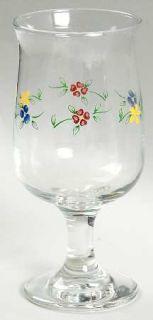 Pfaltzgraff Vickie Hanson Glassware Goblet, Fine China Dinnerware   Green Verge,