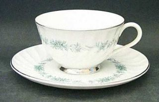 Royal Jackson Blue Heaven Footed Cup & Saucer Set, Fine China Dinnerware   Plati
