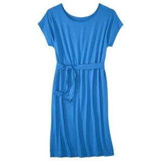 Merona Womens Knit Belted Dress   Brilliant Blue   L