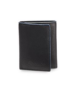 Richards Tri Fold Leather Wallet   Black