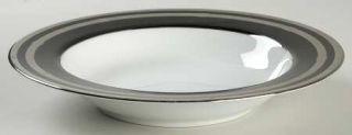Christian Dior Gaudron Onyx (Plat) Large Rim Soup Bowl, Fine China Dinnerware
