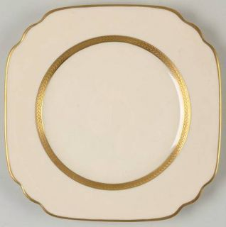 Syracuse Diane No Color Band Square Salad Plate, Fine China Dinnerware   Old Ivo