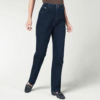 Lee Side Elastic Jeans, Dark Indigo, Womens