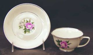 Royal Jackson Margaret Rose Footed Cup & Saucer Set, Fine China Dinnerware   Pin
