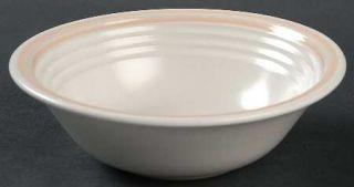 Baker, Hart & Stuart Erin Coupe Cereal Bowl, Fine China Dinnerware   Peach Band,