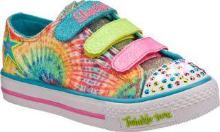 Infant/Toddler Girls Skechers Twinkle Toes Shuffles Peace N Love   Multi Vegeta